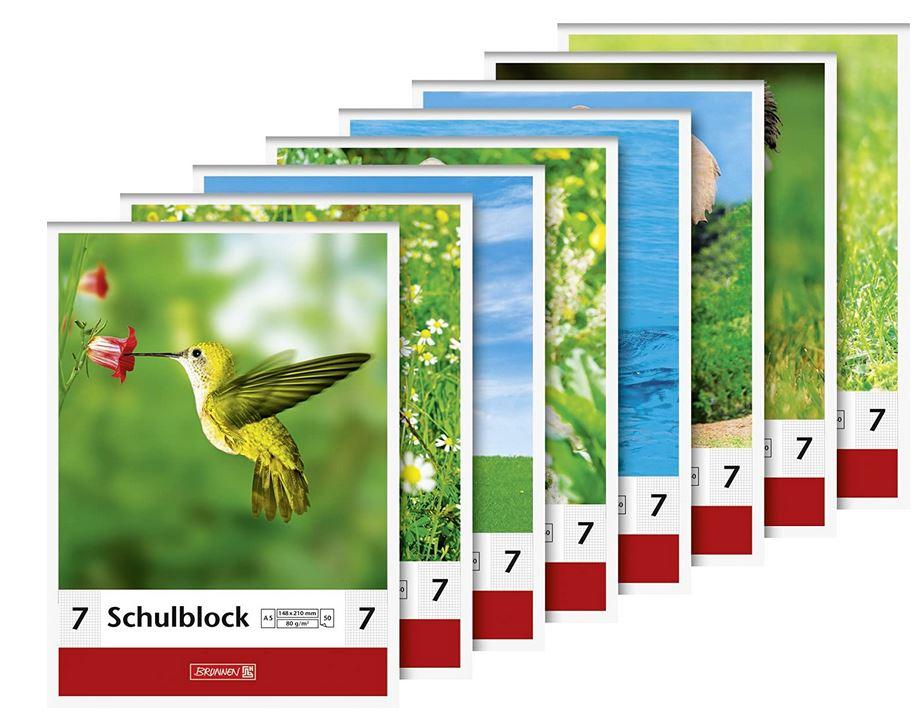 Schulblock Lineatur 7 (A5, 50 Blatt, 7 mm kariert) 1041927