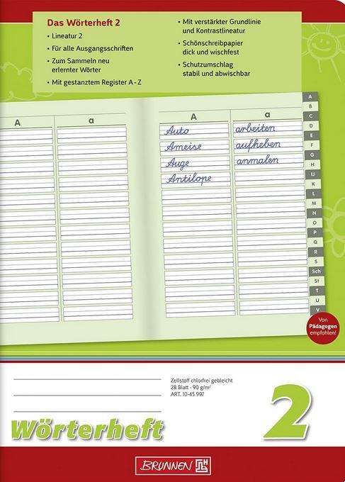Wörterheft, A5, 28 Blatt, mit Register, 1045997