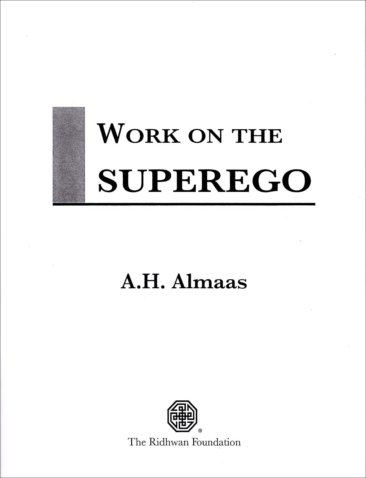Work on the Superego