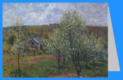 Frühling in der Umgebung von Paris, Apfelbaum in Blüte, 1879