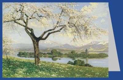 Bayerische Frühlingslandschaft (Chiemsee)