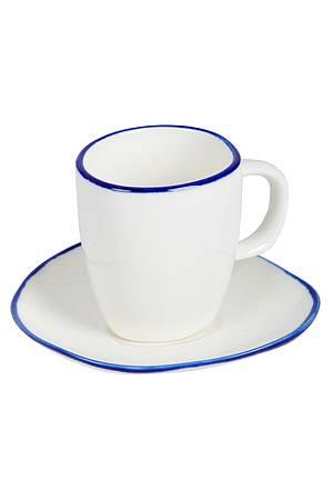 Espresso-Tässchen mit blauem Randdekor