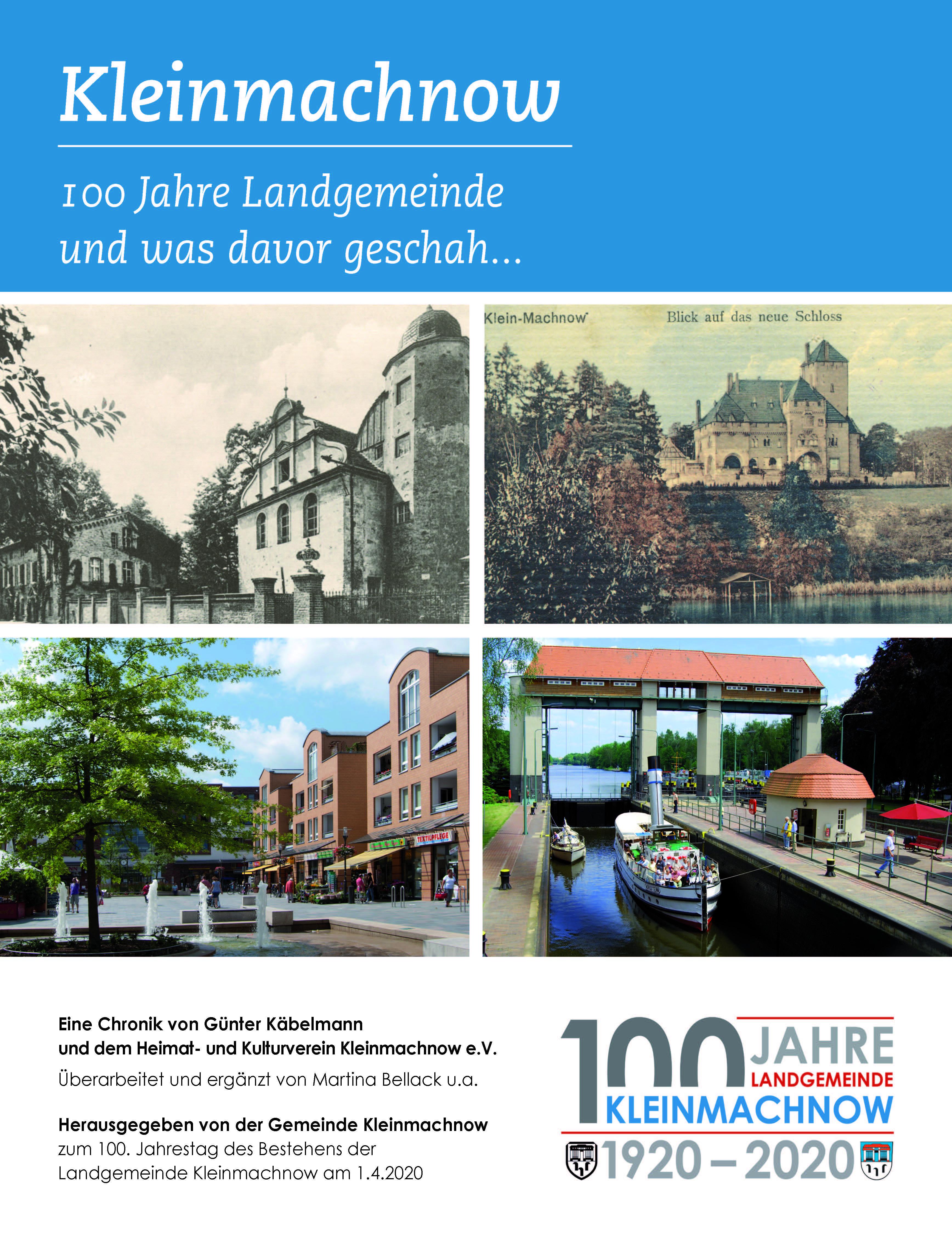 Kleinmachnow –  100 Jahre Landgemeinde und was davor geschah - Cover