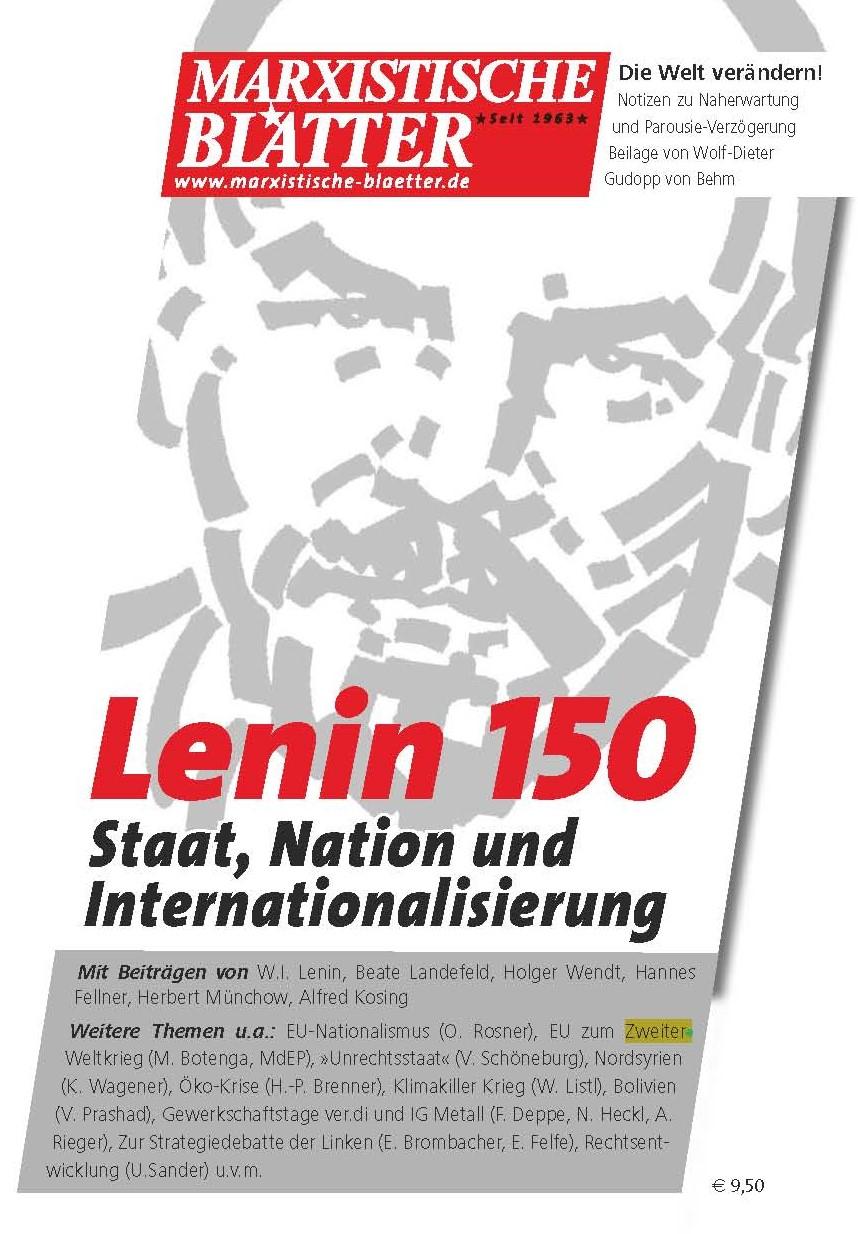 Lenin 150 - Cover