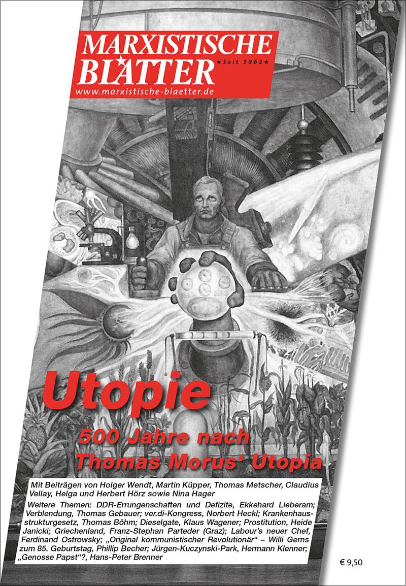 Utopie - 500 Jahre nach Thomas Morus' Utopia - Cover