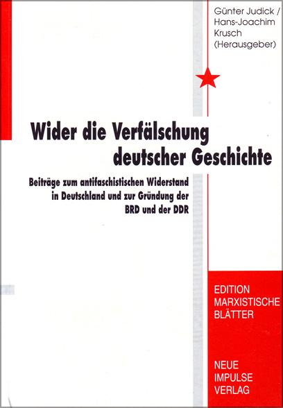 Wider die Verfälschung deutscher Geschichte