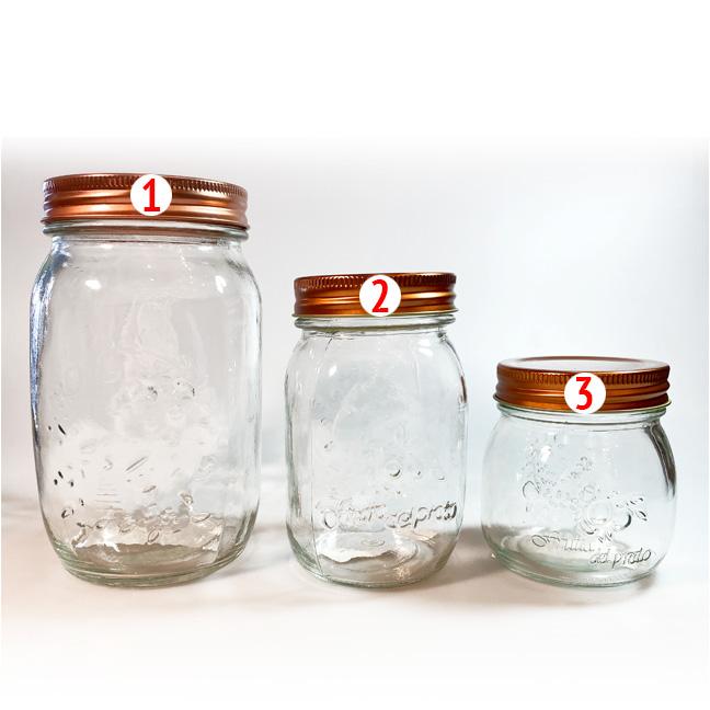 Vorratsglas mit Deckel - klein