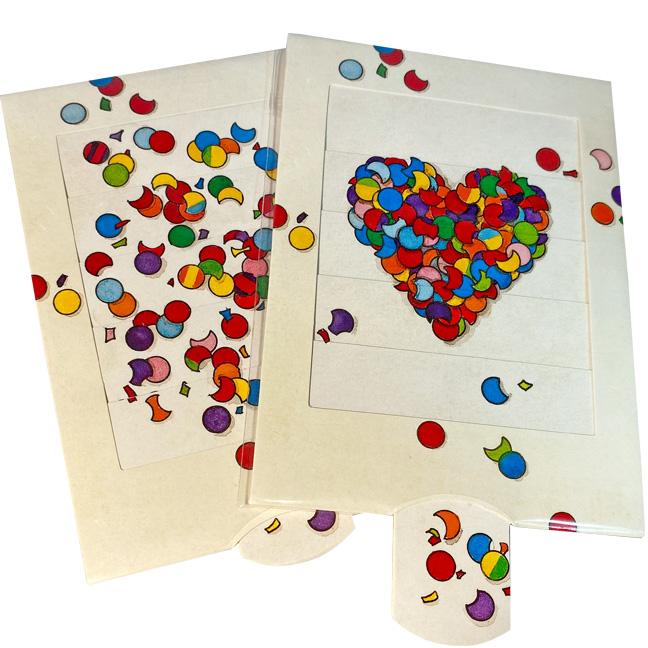 Lebende Karte Konfetti Herz